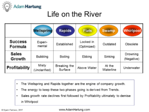 River Lifecycle table step descriptions