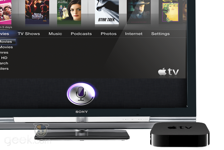 apple tv and siri image