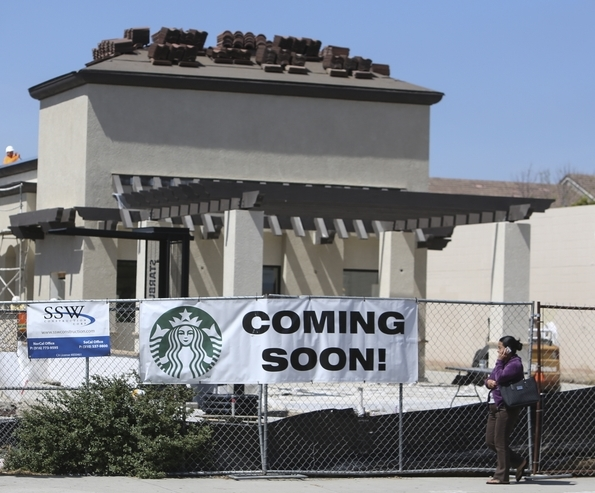 Starbucks under construction. Photo by Jamie Lytle
