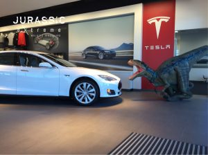 Jurassic Extreme, Houston dinosaur at Tesla dealership