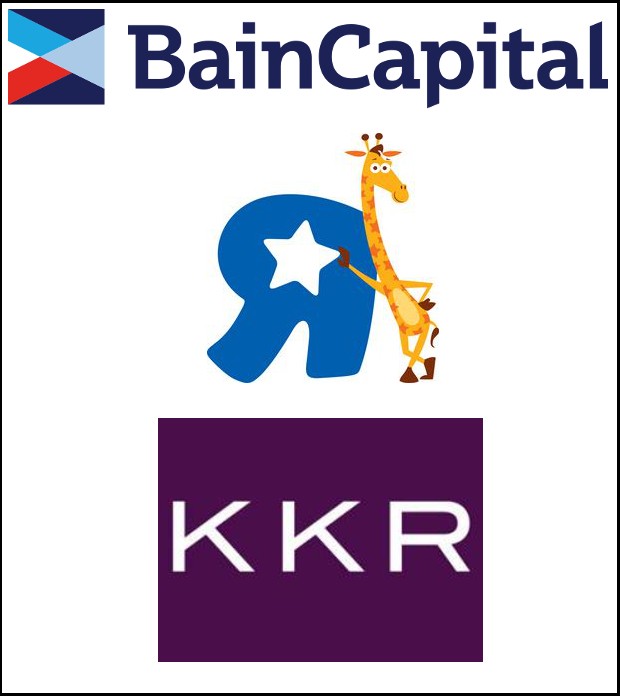 KKR and Bain buy Toys R Us logos