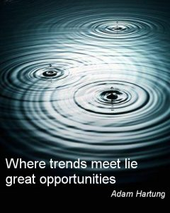 Trend Poster, Adam Hartung, Where trends meet lie great opportunities