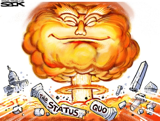 Trump wins, Steve Sack, orange explosion