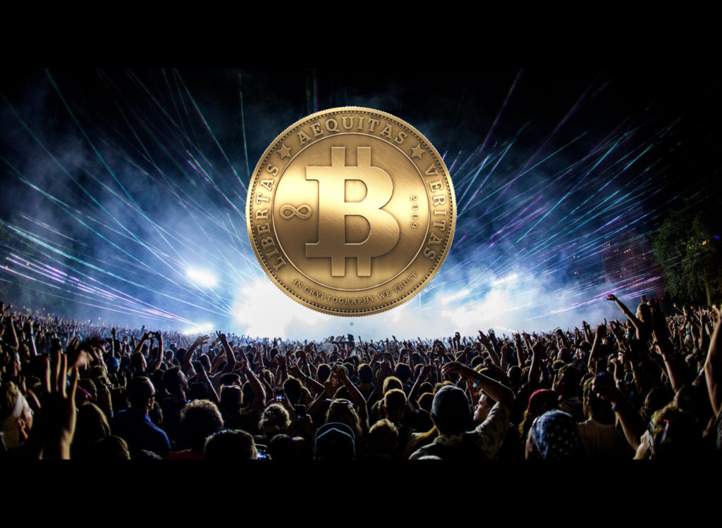 bitcoin fanatics and crowd