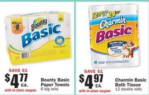 Bounty Basic & Charmin Basic