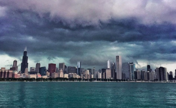 chicago storm clouds