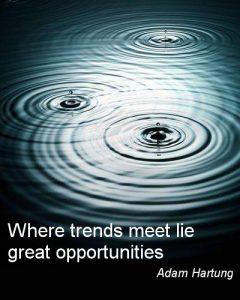 Trend Poster, Adam Hartung, Where trends meet lie great opportunities