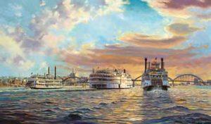 Riverboats on Mississippi
