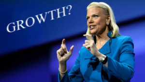 Virginia Rometty, CEO IBM. Growth?
