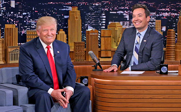 jimmy fallon inteviews trump 2016 Getty